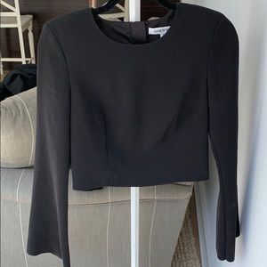 Beautiful cropped bell sleeve top size 2